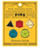 Platonic Solids Enamel Pins