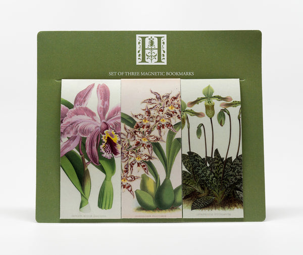 Set of 3 Orchid Magnetic Bookmarks