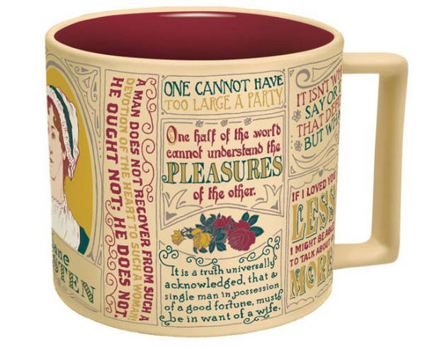 Jane Austen Literary Quotes Mug