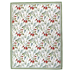 Vacances Picnic Table Cloth Hawthorn Berry