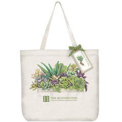Succulents Canvas Tote Bag