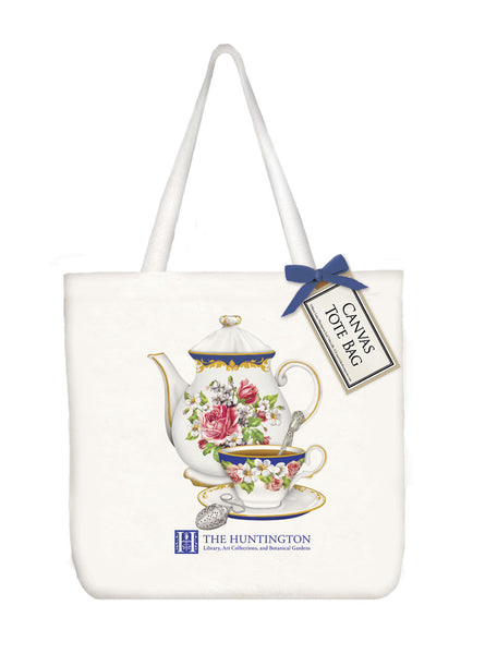 Teapot and Cup Canvas Tote Bag