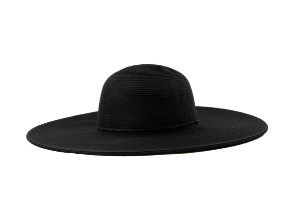 Black Water Repellent Floppy Hat