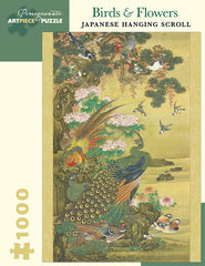 Birds & Flowers Japanese Hanging Scroll 1000-Piece Puzzle