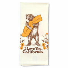 California Bear Hug & Poppy Tea Towel
