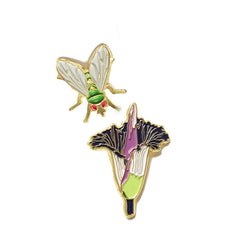 Corpse Flower Enamel Pin Set
