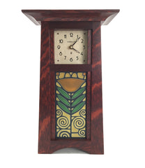 Craftsman Clock with Dard Hunter Poppy Tile
