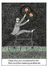 Edward Gorey: Pleased to See Birthday Notecard