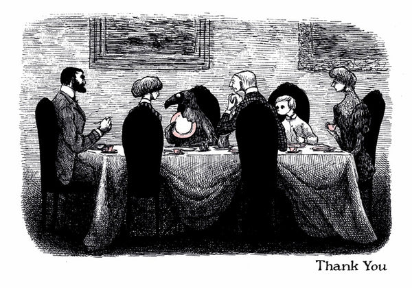 Edward Gorey: Doubtful Guest Thank You Notecards
