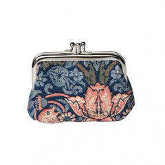 William Morris The Strawberry Thief Blue Coin Purse