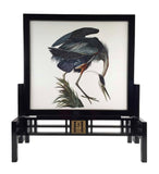 Great Blue Heron Embroidered Table Screen