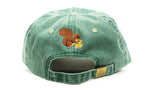 Green Pigment Dye Hat with Embroidered Squirrel