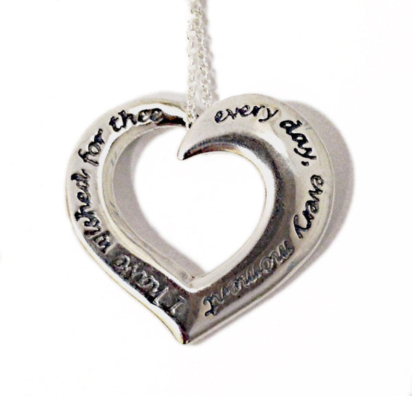 I Have Wished For Thee: Audubon Heart Necklace
