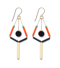 Ronni Kappos Bauhaus Tree Drop Earrings