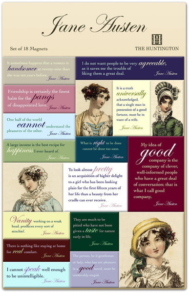 Jane Austen Quote Magnet Set