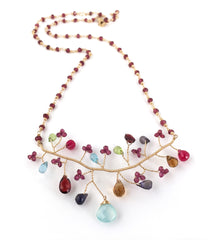 Lina's Handcrafted Gemstone Necklace
