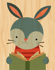 Reading Rabbit on Canvas