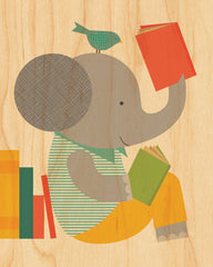 Reading Elephant on Canvas