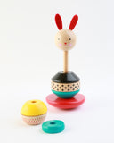 Wooden Stacking Toy: Modern Bunny