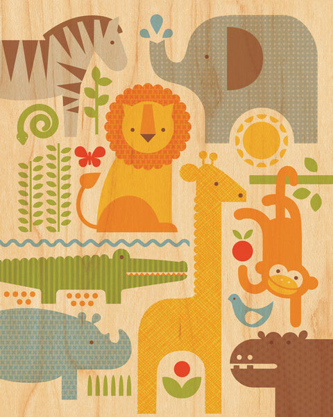 Safari Parade on Canvas