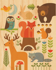 Forest Parade on Canvas