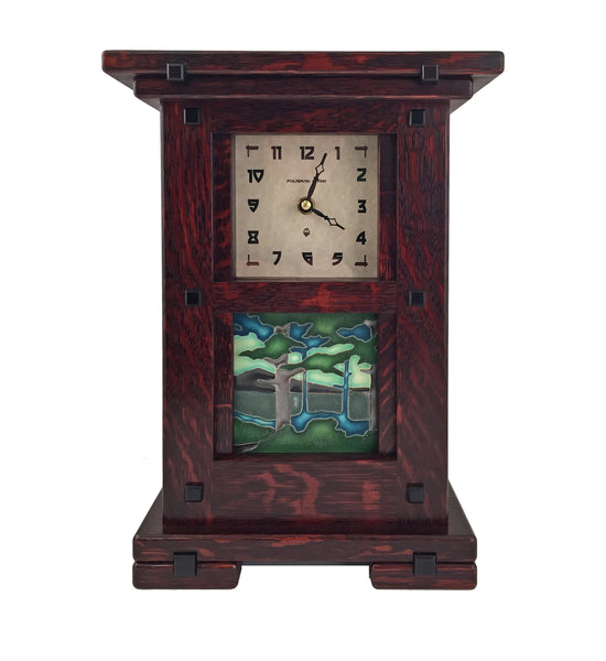 Arts and crafts style clock