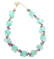 Blue Chalcedony and Mixed Gemstone Necklace