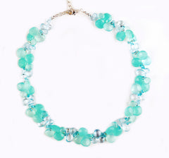 Blue Chalcedony and Topaz Necklace