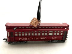 Pacific Electric 1009 RED CAR Ornament