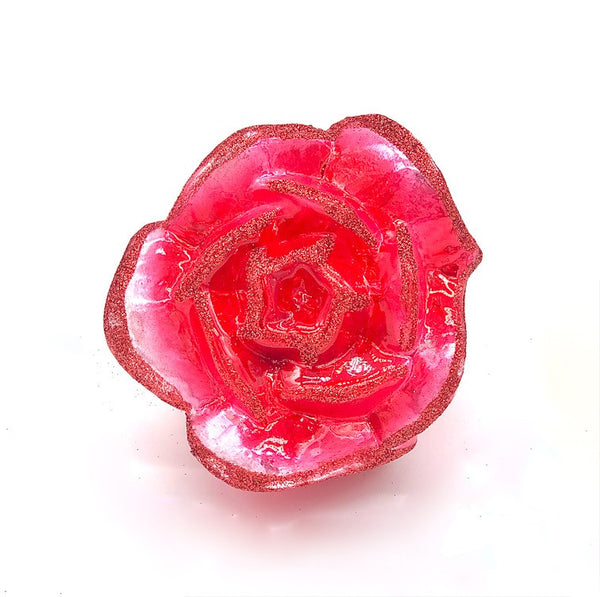 Red Rose on Clip Ornament