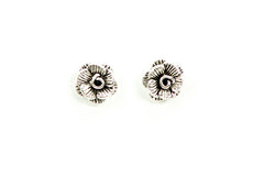 Rose Earrings in Silver