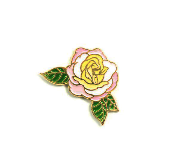 'Huntington's 100th' Rose Enamel Pin