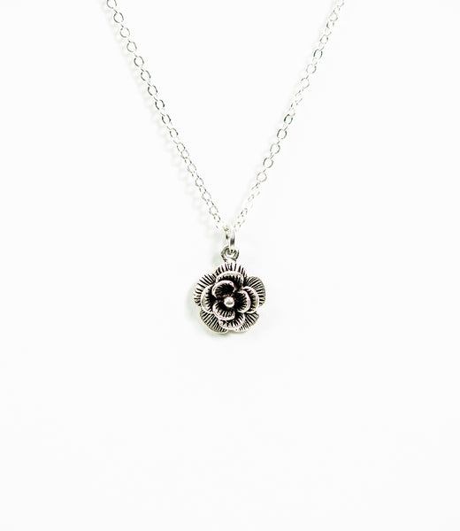 Rose Necklace in Silver
