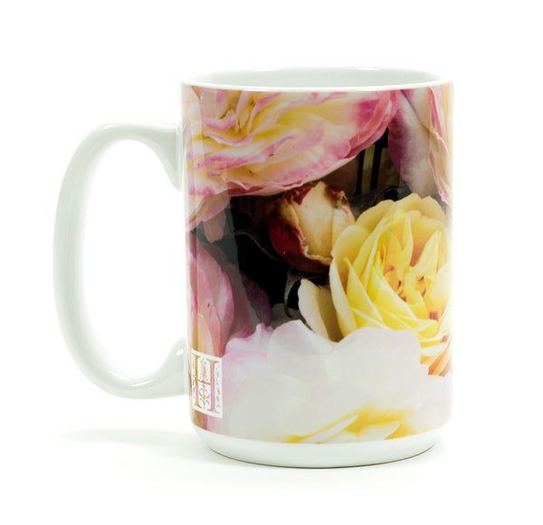 """Huntington's 100th"" Rose Mug"
