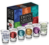 Drink with the Great Drinkers Shot Glass Set