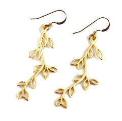 Leafy Twig Earrings
