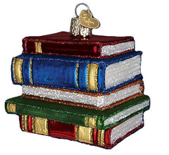 Stacked Books Ornament