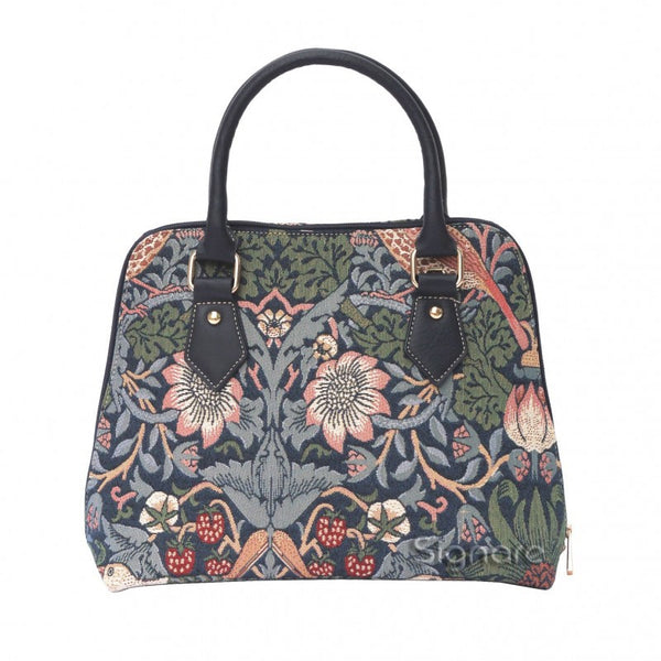 William Morris The Strawberry Thief Blue Convertible Bag