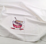 Tea Cups Flour Sack Kitchen Towel