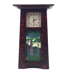 Pine Tree Landscape Craftsman Clock