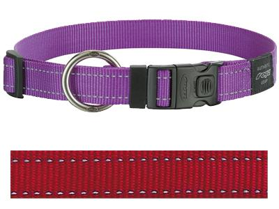 ROGZ FOR DOGS LUMBERJACK HALSBAND ROOD 25 MMX43-73 CM