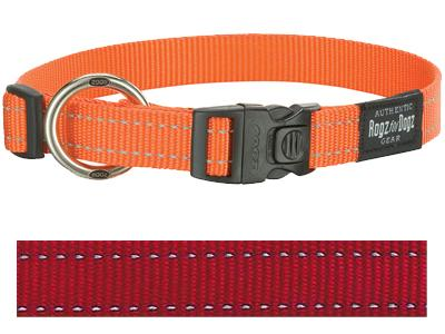ROGZ FOR DOGS FANBELT HALSBAND ROOD 20 MMX34-56 CM