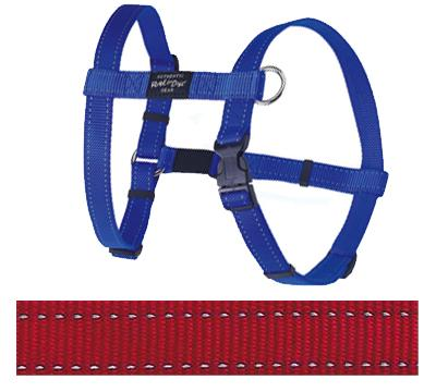 ROGZ FOR DOGS FANBELT TUIG ROOD 20 MMX45-75 CM