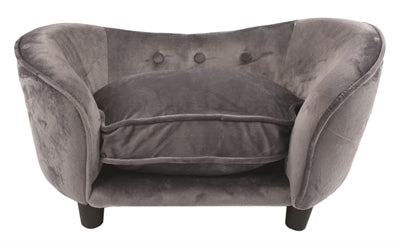 Enchanted hondenmand sofa ultra pluche snuggle donkergrijs 68x40,5x37,5 cm