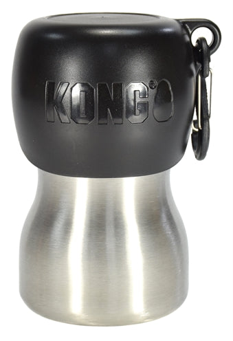 Kong h2o drinkfles rvs zwart 280 ml