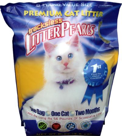 LITTER PEARLS CRYSTAL CLEAR TRACKLESS 8 LBS 3,6 KG (4 STUKS)
