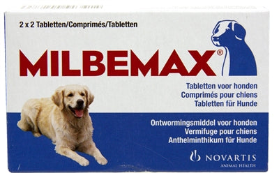 MILBEMAX TABLET ONTWORMING (MIDDEL)GROTE HOND (2X2 TABLETTEN)