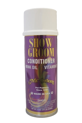MR GROOM SHOW GROOM GLANSSPRAY MET MINK OLIE