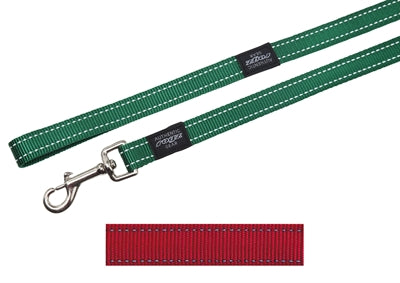 ROGZ FOR DOGS FANBELT LONG LIJN ROOD 20 MMX1,8 MTR