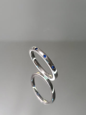 Blue Spinel Sterling Silver Band - www.emmavera.com